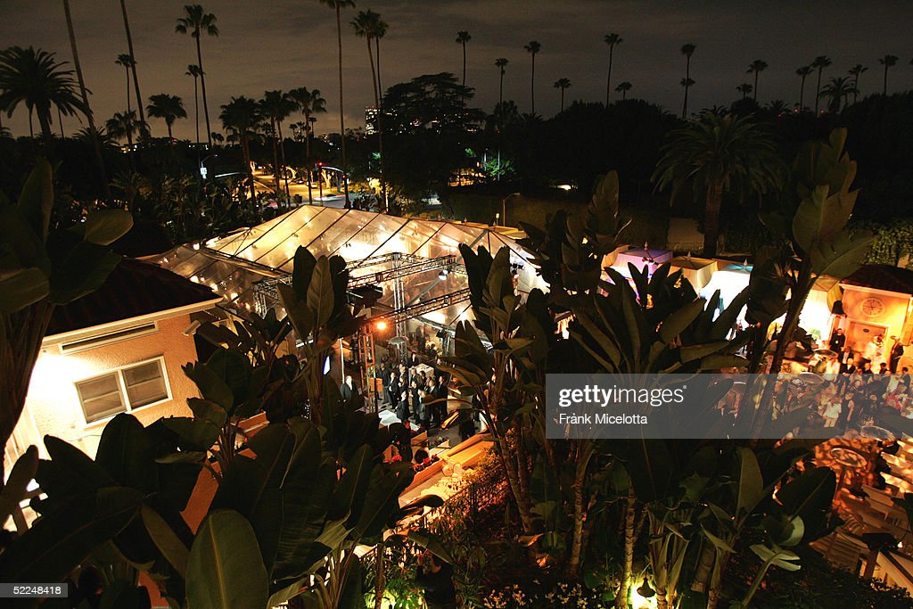 The pool area of the Beverly Hills Hotel has been transformed for the 3rd Annual 'Night Before 2005' party benefiting the Motion Picture & Television Fund February 26, 2005 in Beverly Hills, California.