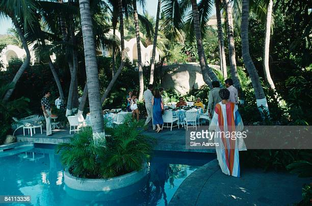 The pool at Bruno Pagliai's villa in Acapulco January 1978