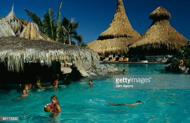 The pool bar at Las Hadas resort in Acapulco April 1974