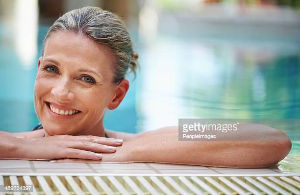 La piscina es el lugar ideal para una reconstituyente