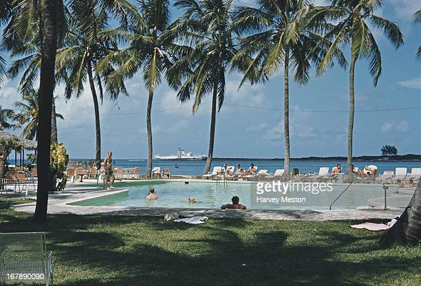 The pool of the British Colonial Hilton Nassau in Nassau Bahamas October 1959