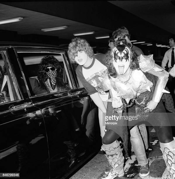 The Pop Group Kiss at Heathrow Airport September 1980