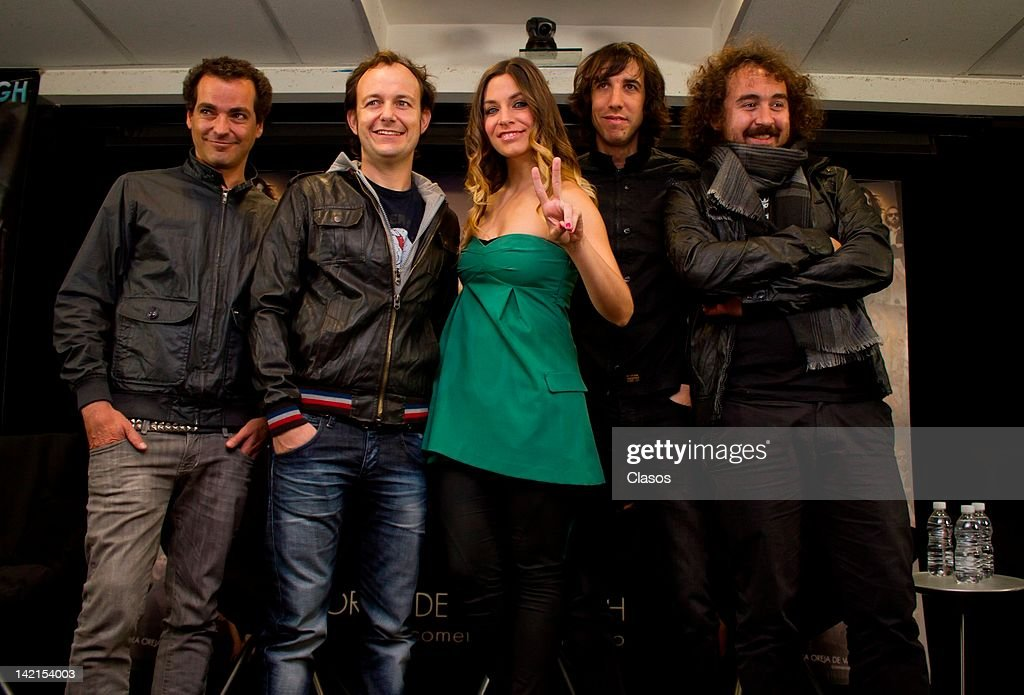 The pop music band La Oreja de Van Gohg during a press conference at Sony Music offices on March 30 of 2012 in Mexico City.