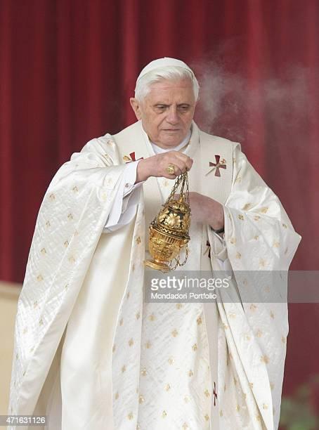'The pope Benedict XVI chairing the canonization of Jozef Bilczewski Gaetano Catanoso Zygmunt Gorazdowski Alberto Hurtado Cruchaga and Felix of...