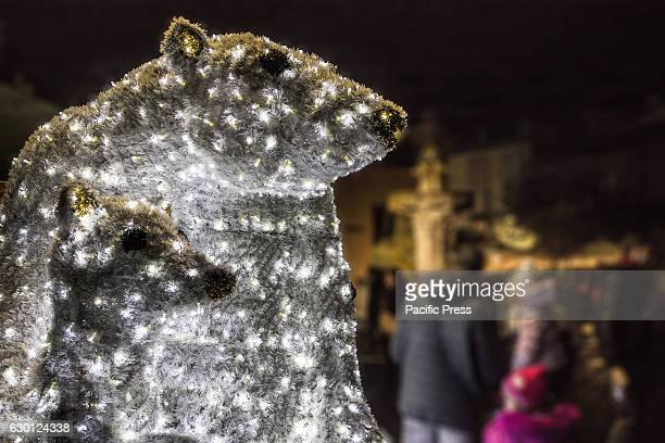 The Pope's city was lit festively for Christmas polar bears sleighs elves and trains have flooded the center of Viterbo attracting tourists and...