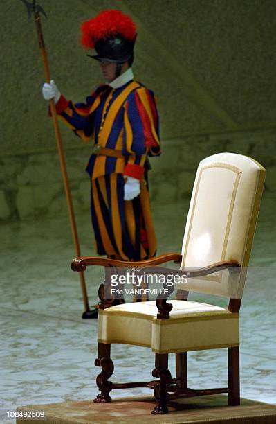 The Pope's throne in Rome Italy in 2005