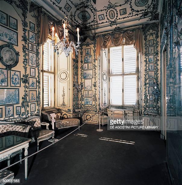 The porcelain room in Schonbrunn Castle Vienna Austria 18th century
