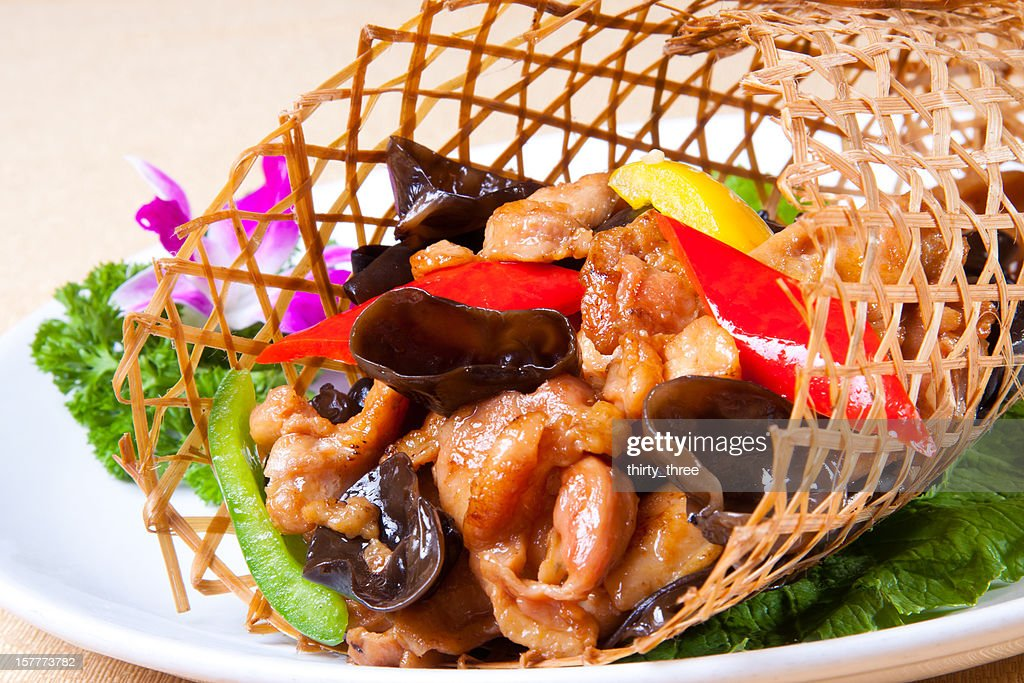 the pork to stir fry : Stock Photo