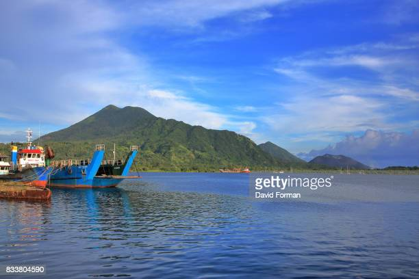 The Port and Surrounding Volcanos near Rabaul, P.N.G.
