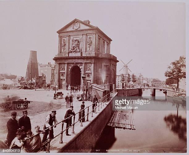 The Port de Delft in Rotterdam the Netherlands ca 1880s 1890s