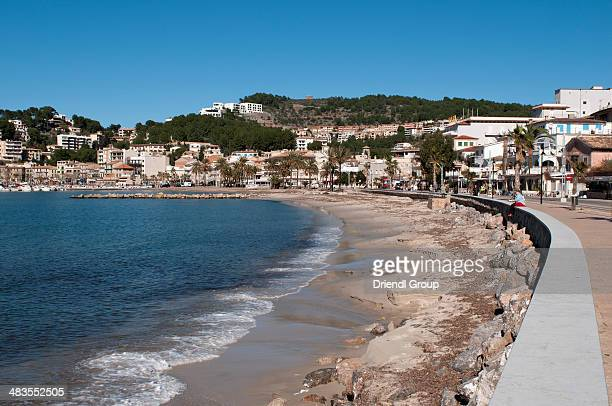 The Port de Soller beach and promenade.