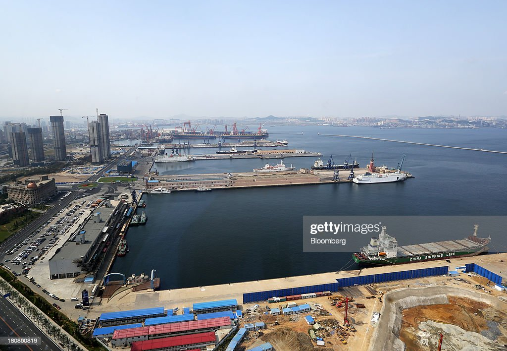 The port of Dalian stands in Dalian China on Friday Sept 13 2013 Goldman Sachs Group Inc this month raised its estimate for China's economic growth...