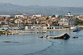 The port of Olbia, Sardinia