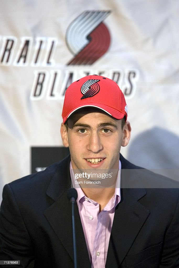 The Portland Trail Blazers introduce Sergio Rodriguez, the so-called 'Spanish Magician' during a downtown Portland press conference on July 5, 2006 in Portland, Oregon. Rodriguez, who played the last two seasons in Spain was the 27th pick in the 2006 NBA draft.