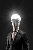 The portrait of LED man.