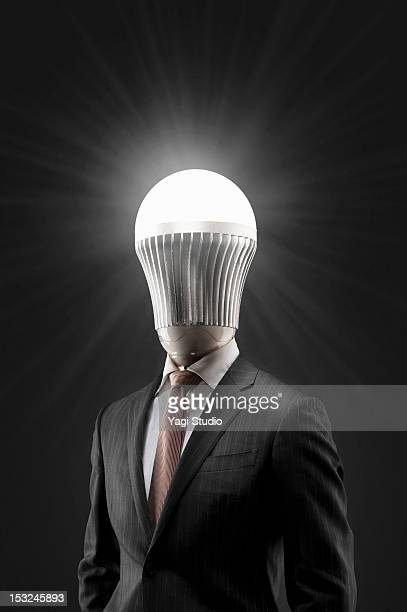 The portrait of LED man.