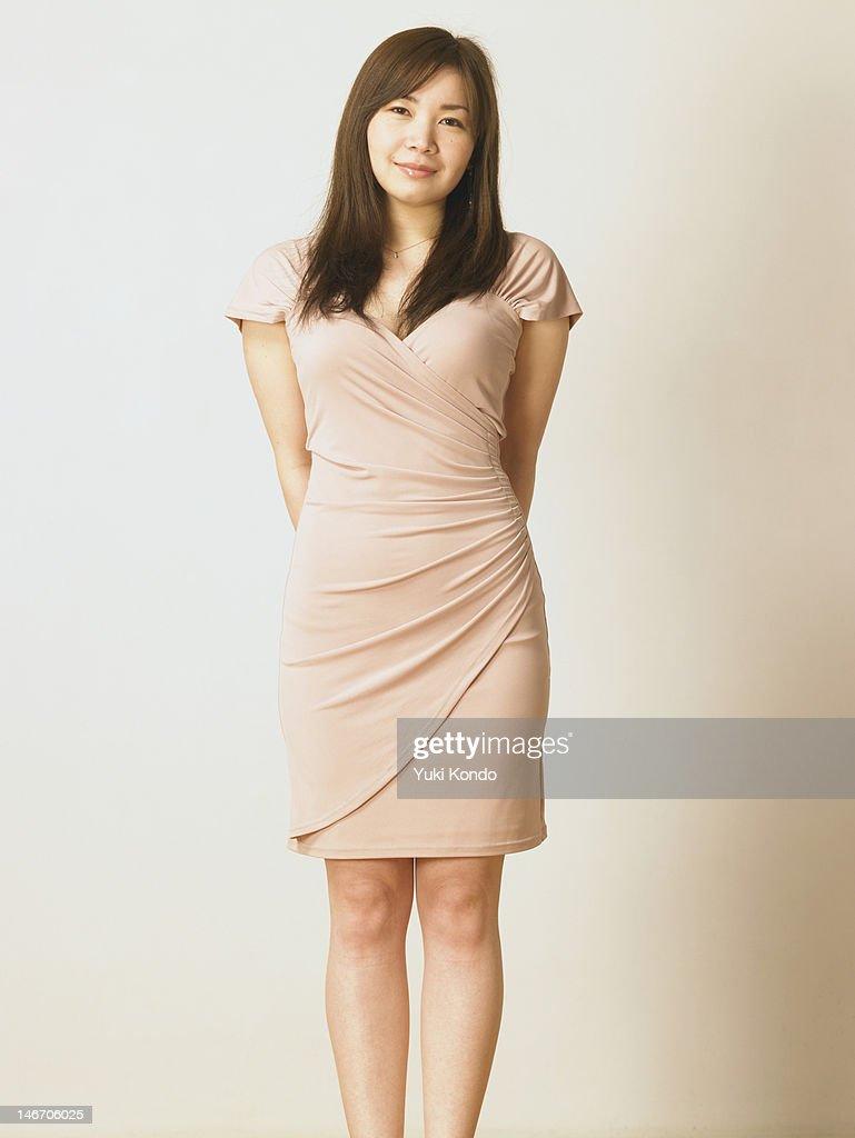 The portrait of the elegant woman who smiles. : Stock Photo