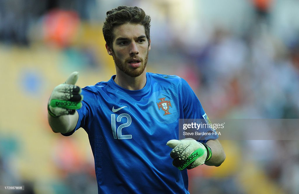 The Portugal goalkeeper Jose Sa calls for the ball during the FIFA U20 World Cup Round of 16 match between Portugal and Ghana at Kadir Has Stadium on July 3, 2013 in Kayseri, Turkey.
