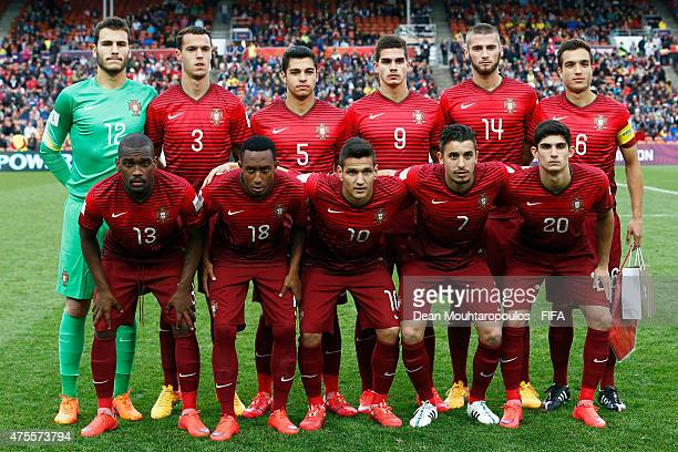 The Portugal team line up prior to the FIFA U20 World Cup New Zealand 2015 Group C match between Portugal and Senegal held at Waikato Stadium on May...