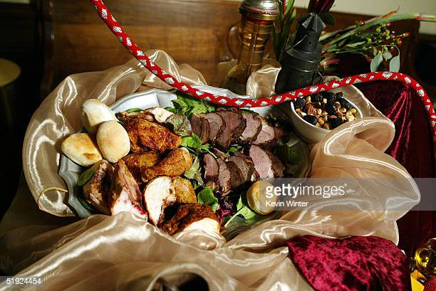 The post party menu provided by Twin Palms is displayed at the 31st Annual People's Choice Award 'Behind The Scene' preview at the Pasadena Civic on...