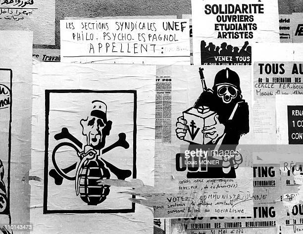 The posters of in France in January 1968