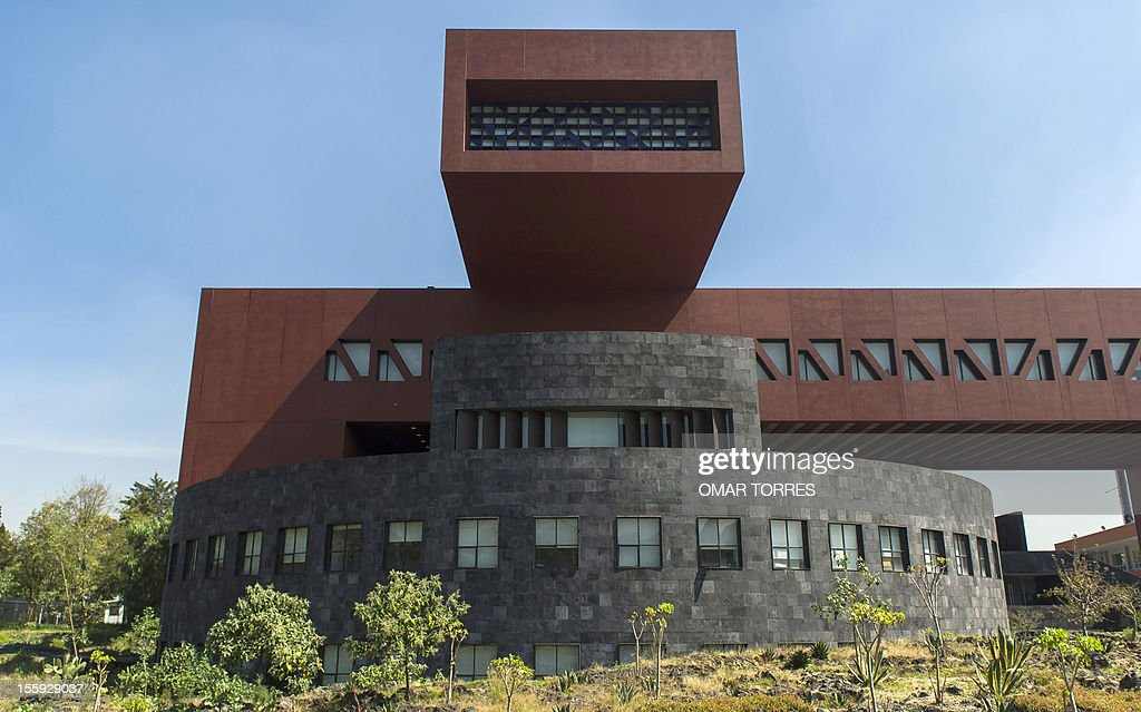 The Postgraduate School of Economics building in the campus of the UNAM (Universidad Nacional Autonoma de Mexico) on November 08, 2012 in Mexico City.