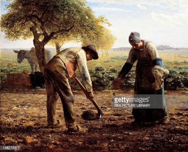The potato planters by JeanFrancois Millet oil on canvas 82x101 cm Boston Museum Of Fine Arts