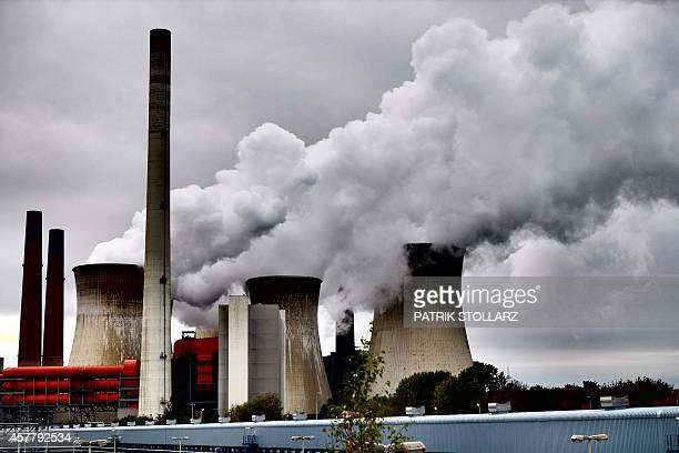 MODE The power plant 'Neurath' run by coal from the brown coal open cast mine Garzweiler is pictured on October 24 2014 in Rommerskirchen western...