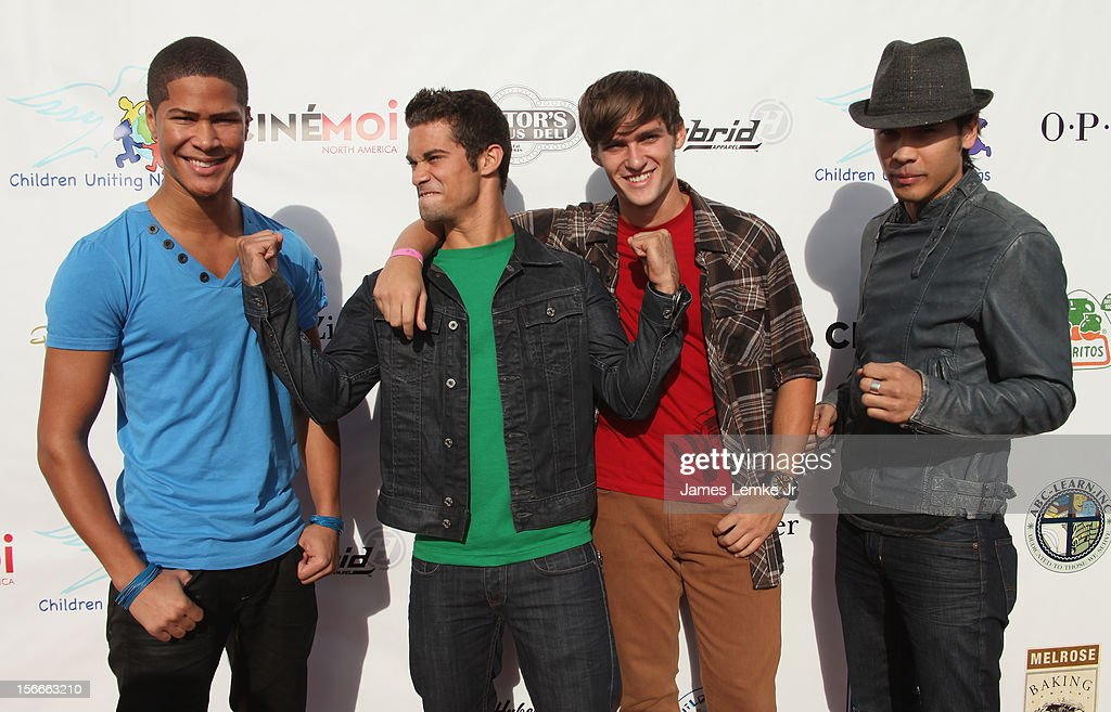 The Power Rangers attends the Children Uniting Nations' Day of The Child Fundraiser held at the Santa Monica Pier on November 18, 2012 in Santa Monica, California.