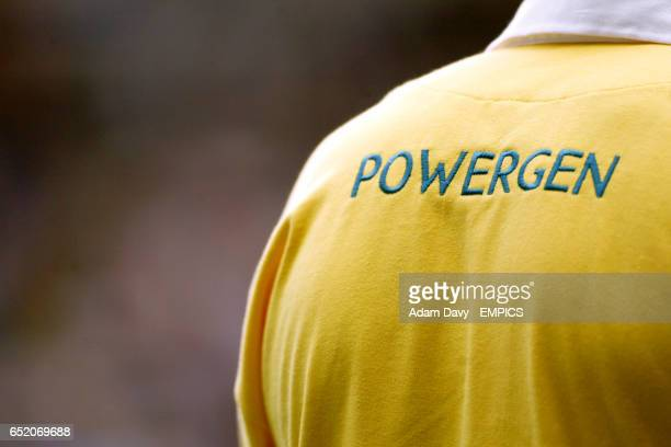 The Powergen logo on the back of the Referee's shirt