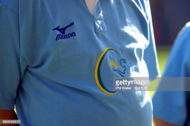 The Powergen logo on the referee's shirt