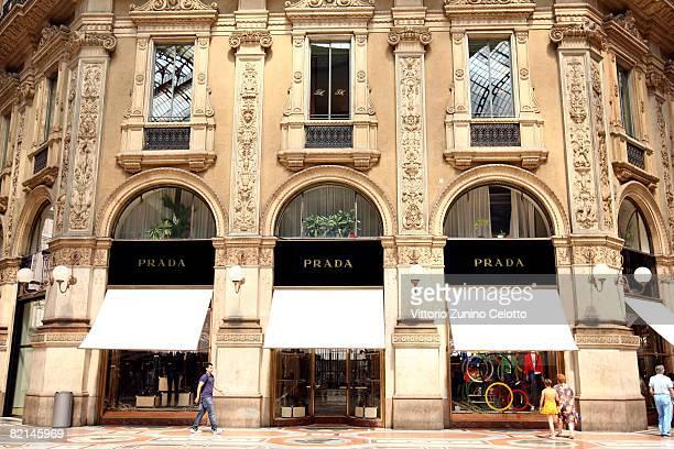 The Prada Boutique in Galleria Vittorio Emanuele on July 31 2008 in Milan Italy