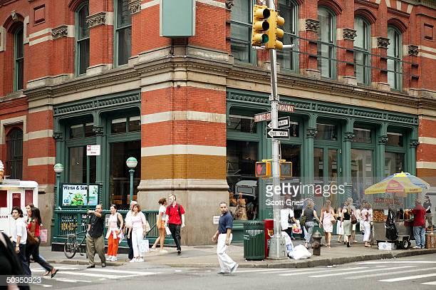 The Prada store in SoHo June 11 2004 in New York City