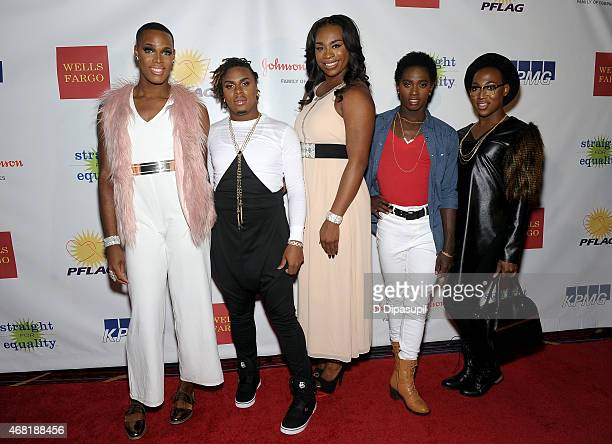 The Prancing Elites from Oxygen's 'The Prancing Elites Project' attend the 7th Annual PFLAG National Straight For Equality Awards Gala at The New...