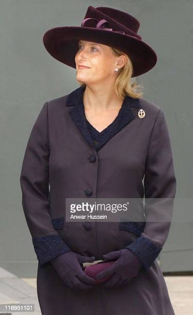 The pregnant Countess of Wessex attends the Memorial service on October 10 2003 for military staff who died in the Iraq war