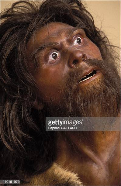 The Prehistory Museum in Tautavel France on June 23 1992 Face of Neandertal man