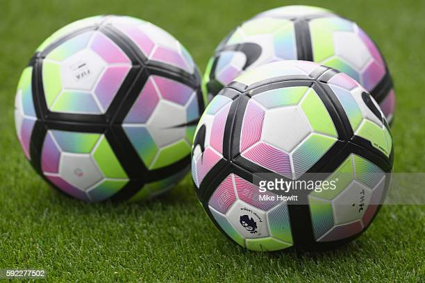 The preimer leauge ball on the ptich during the Premier League match between Tottenham Hotspur and Crystal Palace at White Hart Lane on August 20...