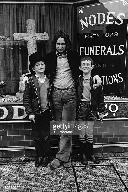 The premises of Nodes Funerals in London UK circa 1969