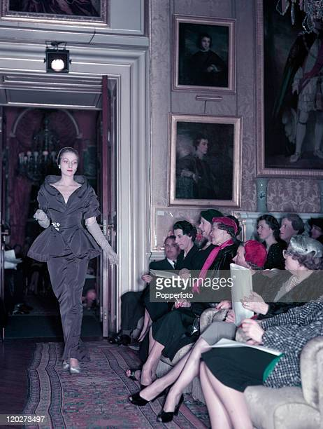 The presentation of Christian Dior's Winter Collection at a fashion show at Blenheim Palace in the presence of Princess Margaret in aid of the...