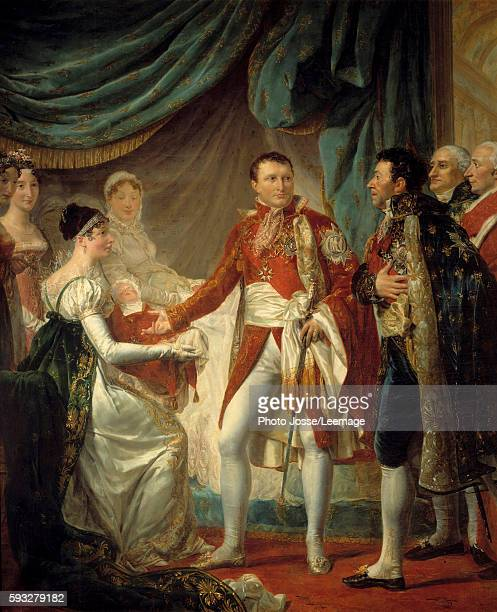 The presentation of the King of Rome Napoleon'son to the dignitaries of the Empire on 20 March 1811 in the presence of the Empress Marie Louise...