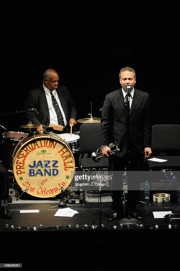 The Preservation Hall Jazz Band performs in concert at Brown Theatre on December 8, 2012 in Louisville, Kentucky.