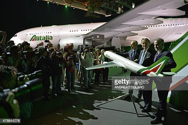 The President and CEO of Etihad Aviation Group and Vice President of Italy's airline giant Alitalia Australia's James Hogan the President of Alitalia...