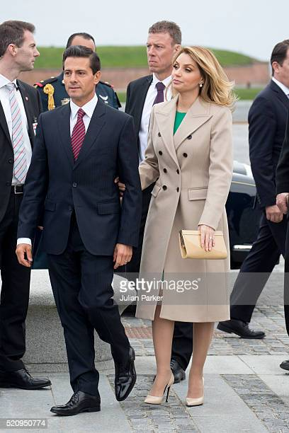 The President and his wife on a visit to Kronberg Castle and the M/S Maritime Museum of Denmark during the State visit of the President of The United...
