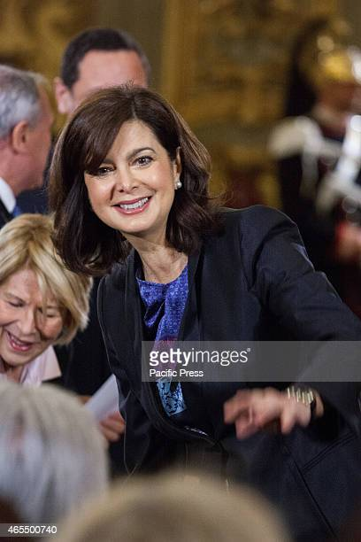 The president of Chamber of Deputies Laura Boldrini joins the celebration of Women's Day at the Quirinale in the presence of Italian President...