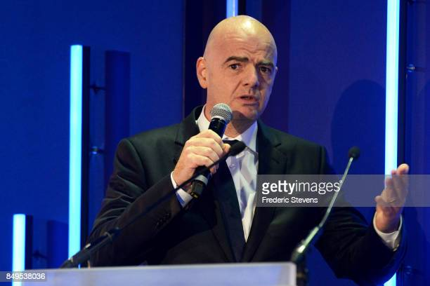 The president of FIFA Gianni Infantino during the Presentation World Cup 2019 in France on September 19 2017 in Paris France In two years France will...
