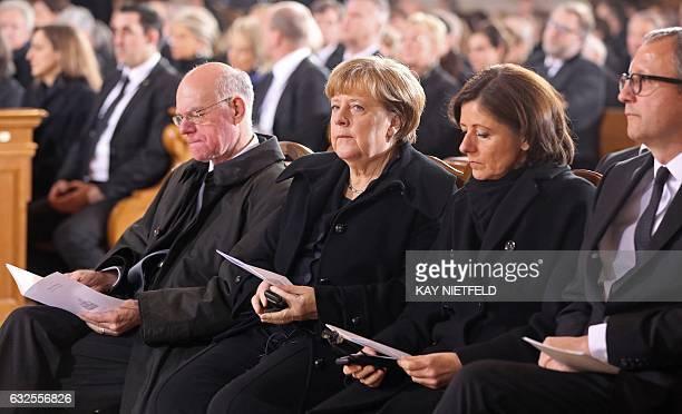 The President of Germany's Bundestag Norbert Lammert German Chancellor Angela Merkel President of the German Bundesrat Malu Dreyer and the President...
