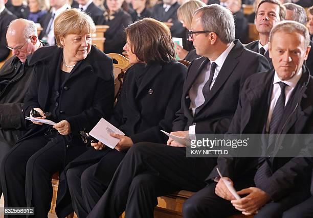 The President of Germany's Bundestag Norbert Lammert German Chancellor Angela Merkel President of the German Bundesrat Malu Dreyer the President of...