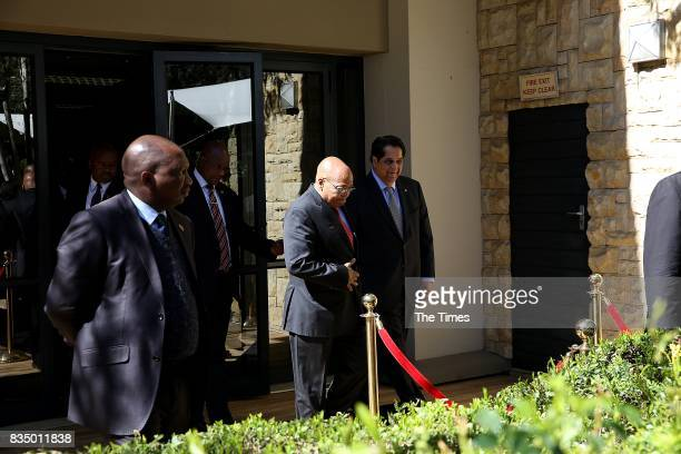 The president of the Brics New Development Bank KV Kamath is seen with President Jacob Zuma during the launch of the bank at the African Regional...