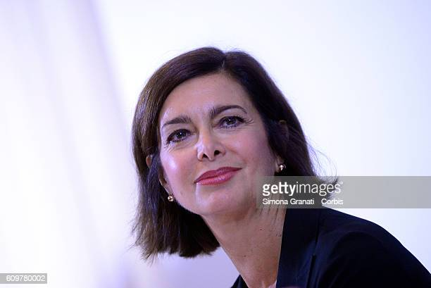 The President of the Chamber Laura Boldrini presents to the Foreign Press Association the results of the public consultation online on 'The state and...