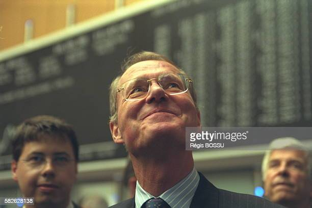The president of the Confederation of German Industry visits the Frankfurt stock exchange